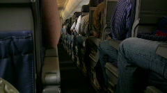 Aisle on a Small Commercial Plane Stock Footage