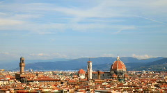 Florence italy tourists landmark city urban monuments historic Stock Footage