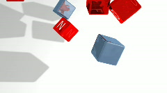 INFO CUBES INTRO Stock Footage