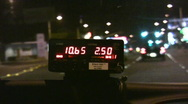 Taxi Meter at Night 720p Stock Footage
