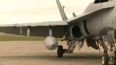 military, F18 Hornet fighter jet, #3 - stock footage