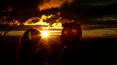 Kiss at Sunset - stock footage