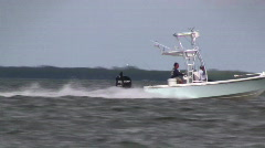 Fishing boat speeding by HD - stock footage