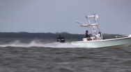 Stock Video Footage of Fishing boat speeding by HD