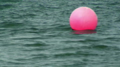 Pink bouy marker Stock Footage