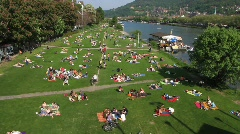 Germany Heidelberg, Neckar river Stock Footage