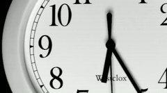 Time Lapse - Clocks Stock Footage