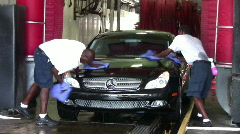Car washing men Stock Footage