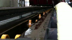 Car wash conveyor - stock footage