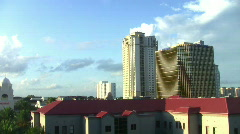 Glass elevator ride up St. Petersburg Florida HD - stock footage