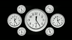 Time Lapse - Clocks - stock footage