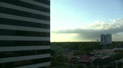St Petersburg Florida glass elevator down ride Stock Footage