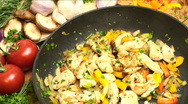Stock Video Footage of Chicken stir fry