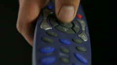Remote control select OK Stock Footage
