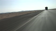 Truck in the desert Stock Footage