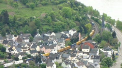 Germany Boppard Gedeonsblick view river Rhein Stock Footage