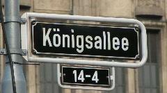 Konigstrasse, Dusseldorf, Germany Stock Footage
