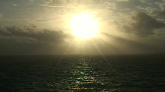 Ocean Sunrise  Stock Footage