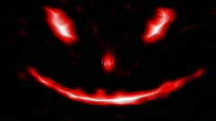 Loopable Scary Abstract face 2 Red Isolated on black Stock Footage