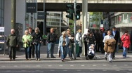 Stock Video Footage of Germany Dusseldorf urban pedestrians zone