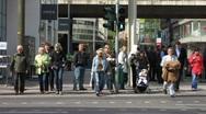 Germany Dusseldorf urban pedestrians zone Stock Footage