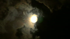 moon stormy closeup 05 - stock footage