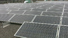 Solar panels on roof. Stock Footage