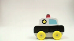 Toy police car series - HD  Stock Footage