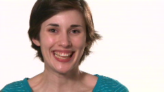 Young woman smiles Stock Footage