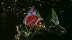 Sydney Opera House - Night (3 of 3) Stock Footage