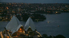 Sydney Opera House - Evening (1 of 2) Stock Footage