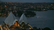 Stock Video Footage of Sydney Opera House - Evening (1 of 2)