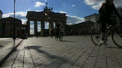 Germany Berlin Brandenburgertor traffic Stock Footage