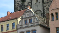 Germany Wittenberg Market square Town hall Stock Footage