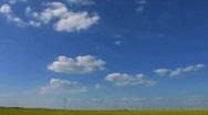 Rape field Wind Turbines Alternative Green Clean energy Stock Footage