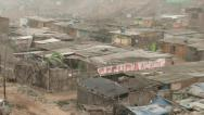 Slums, South America (Lima, Peru) Stock Footage