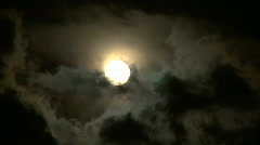 Moon stormy closeup 01 Stock Footage