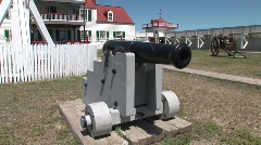 P00217 Cannon at Fort Union Trading Post Stock Footage