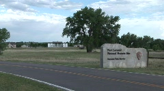 P00242 Entrance to Fort Laramie National Historic Site Stock Footage