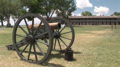 P00244 Cannon at Fort Laramie National Historic Site Stock Footage