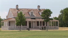 P00246 Fort Laramie National Historic Site and Rangers Stock Footage