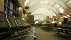 Airport_seats02 Stock Footage