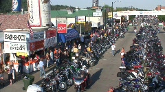 P00260 Sturgis Motorcycle Rally Stock Footage