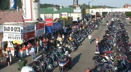 Stock Video Footage of P00260 Sturgis Motorcycle Rally