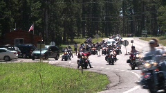 P00261 Motorcycles in the Black Hills Stock Footage