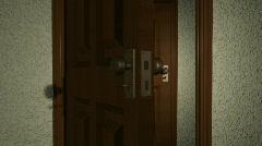Door Opening to Door HD1080 Loopable - stock footage