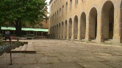 Jm777-Courtyard Arches Stock Footage