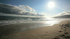 Dark Clouds over Ocean Time Lapse Stock Footage