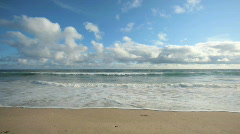 Clouds over Beach and Ocean TimeLapse Stock Footage