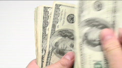 Counting money loop - HD  Stock Footage